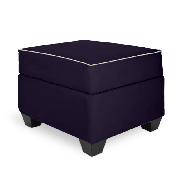 Olli Ella In-It Storage Ottoman - Aniseed with Dove Accent