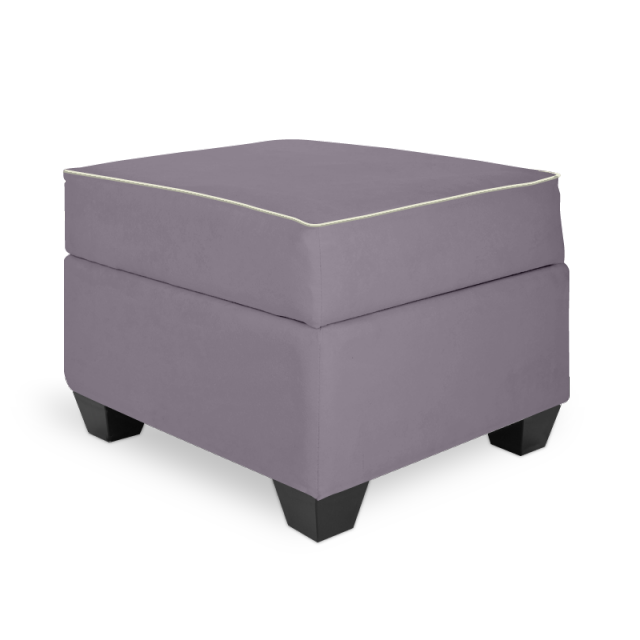 Olli Ella In-It Storage Ottoman - Musk with Snow Accent
