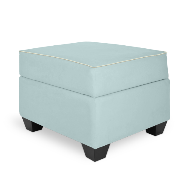 Olli Ella In-It Storage Ottoman - Sky with Snow Accent