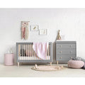 Babyletto Lolly 3-In-1 Cot - Grey & Washed Natural