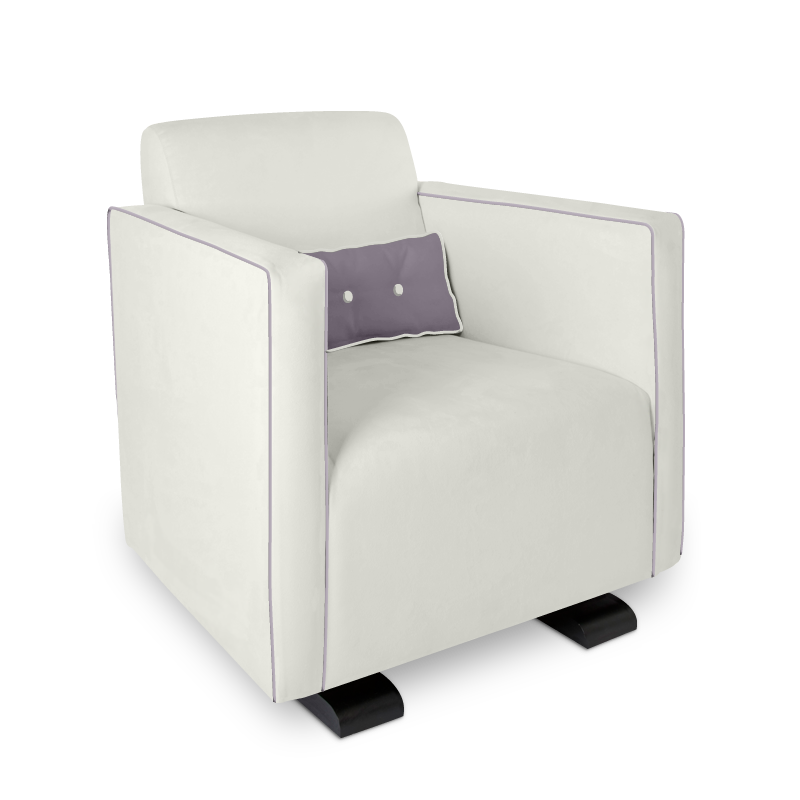 Olli Ella Da-Da Glider / Nursing Chair - Snow with Musk Accent
