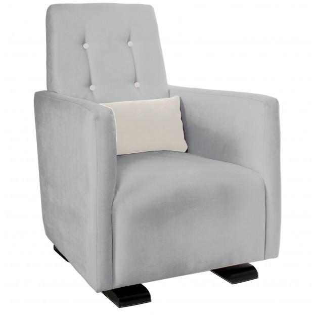 Olli Ella Go-Go Glider / Nursing Chair - Dove Grey with Snow Accent