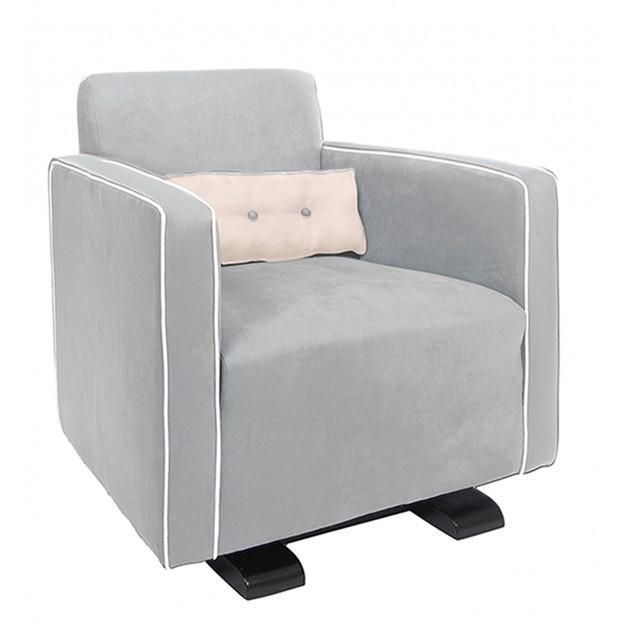 Olli Ella Da-Da Glider / Nursing Chair - Dove Grey with Snow Accent