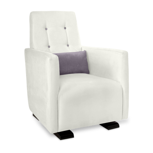 Olli Ella Go-Go Glider / Nursing Chair - Snow with Musk Accent