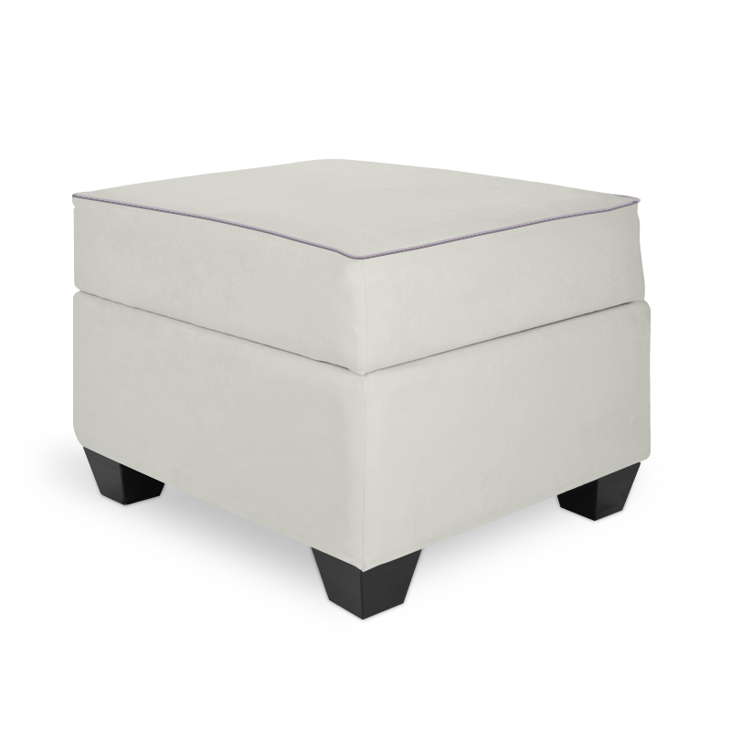 Olli Ella In-It Storage Ottoman - Snow with Musk Accent