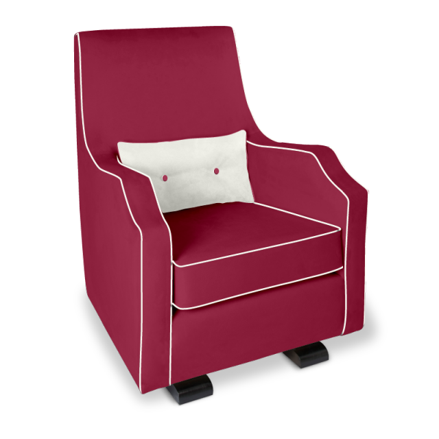 Olli Ella Mo-Ma Glider / Nursing Chair - Guava with Snow Accent