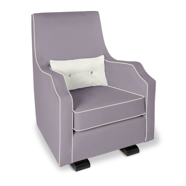 Olli Ella Mo-Ma Glider / Nursing Chair - Musk with Snow Accent