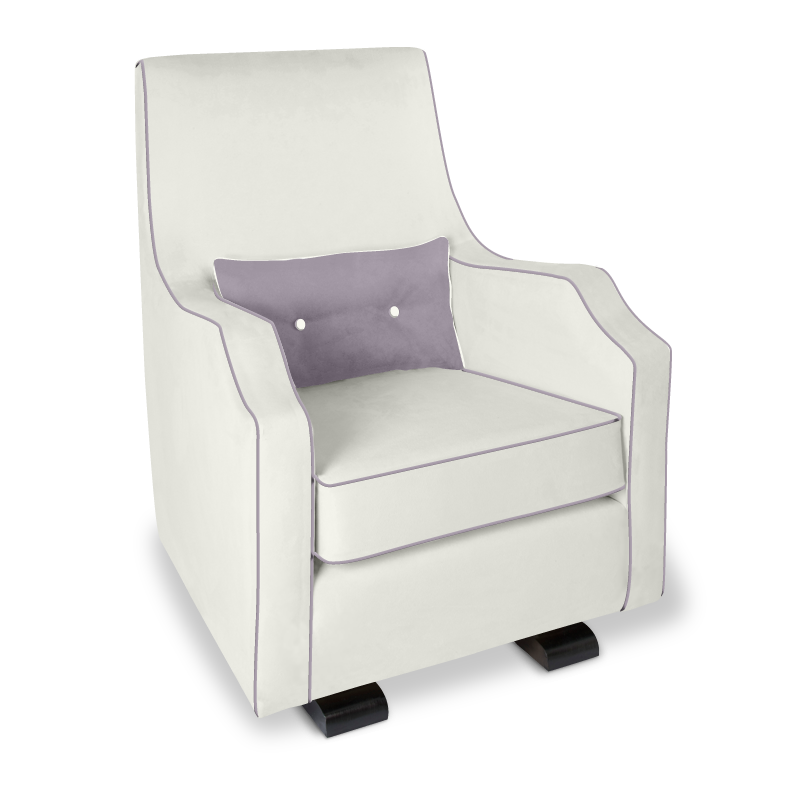 Olli Ella Mo-Ma Glider / Nursing Chair - Snow with Musk Accent