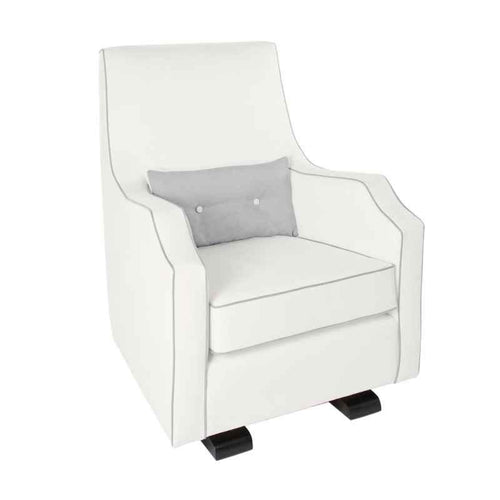 Olli Ella Mo-Ma Glider / Nursing Chair - Snow with Dove Accent