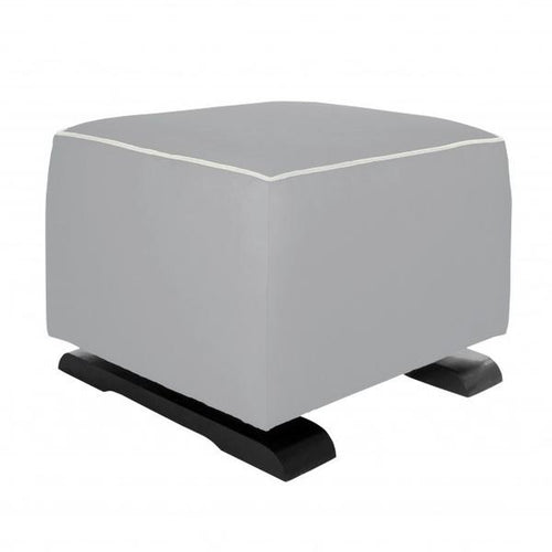 Olli Ella On-It Storage Ottoman - Dove Grey with Snow Accent