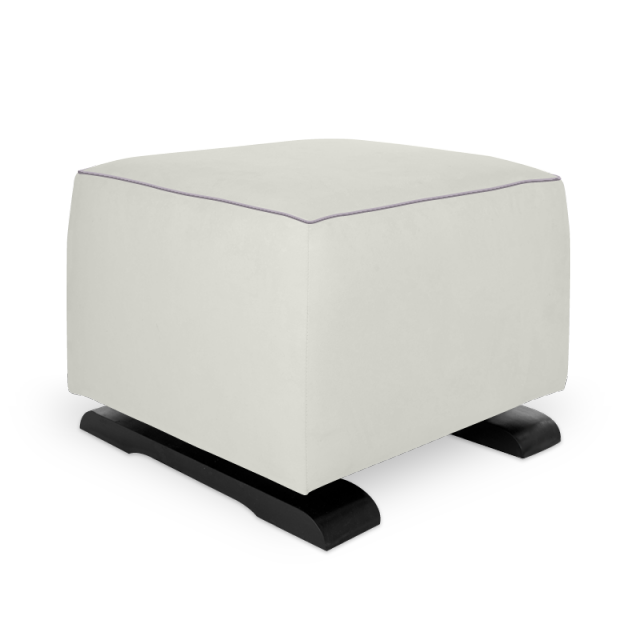 Olli Ella On-It Storage Ottoman - Snow with Musk Accent