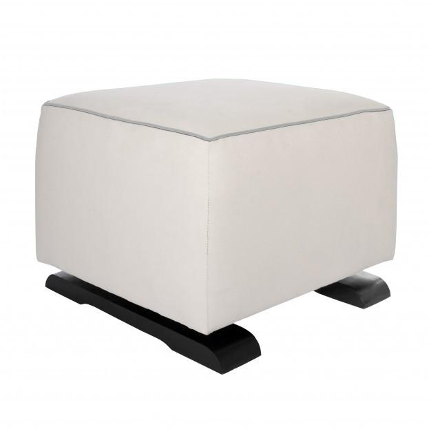 Olli Ella On-It Storage Ottoman - Snow with Dove Accent