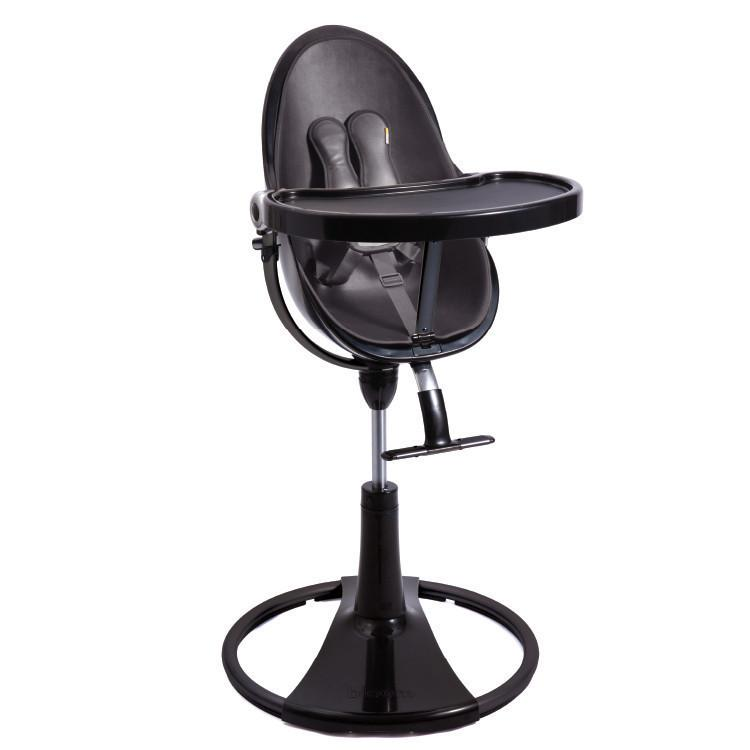 Bloom Fresco Chrome Highchair - Noir / Black Frame