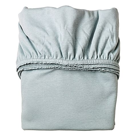 Leander Fitted Cot Sheets (Set of 2) - Misty Blue
