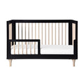 Babyletto Lolly 3-In-1 Cot - Black & Washed Natural