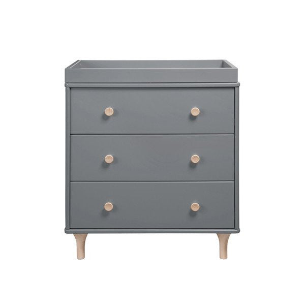 Babyletto Lolly Dresser / Changer - Grey & Washed Natural