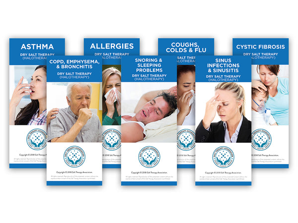 7 Salt Therapy Respiratory EDU Cards (100 of each)