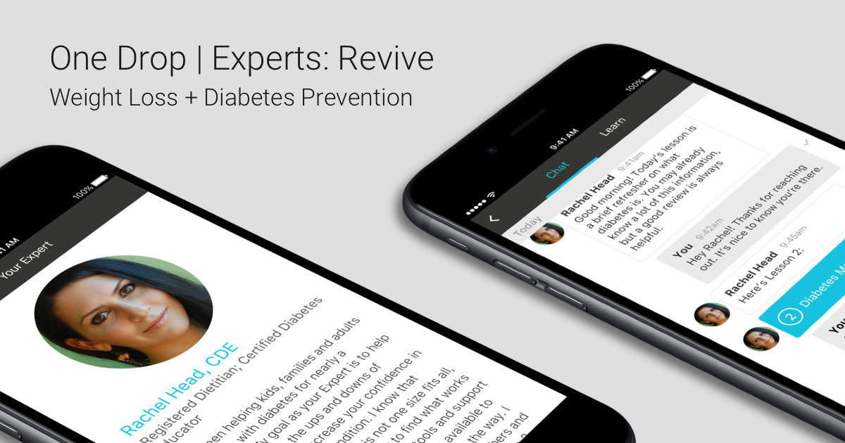 "ONE DROP ANNOUNCES ""REVIVE""  DIGITAL WEIGHT LOSS AND DIABETES PREVENTION PROGRAM"