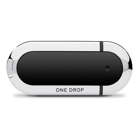 One Drop Glucometer with Black Accent Color