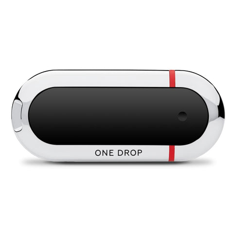 One Drop Glucometer with Orange Accent Color