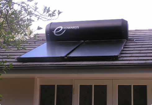 What is the difference between a solar hot water system and a solar power system?