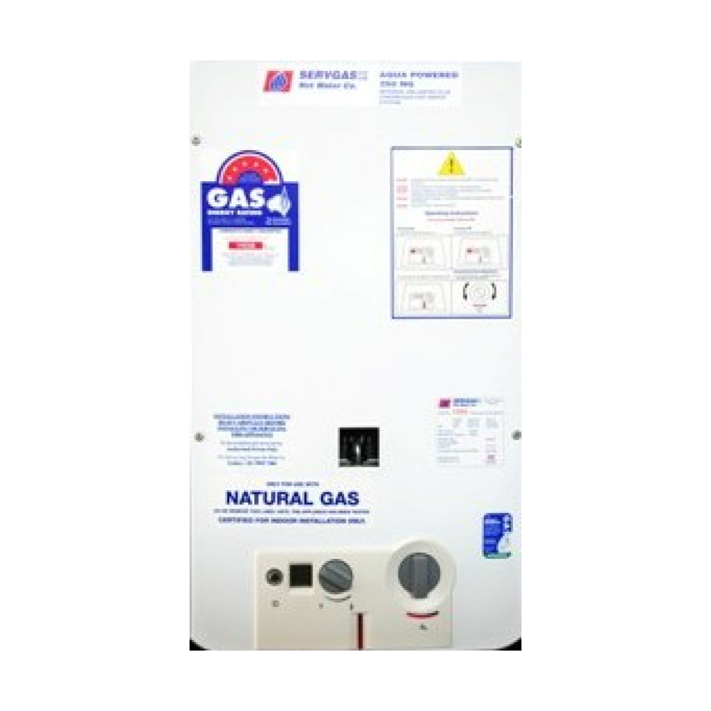 Servgas Aqua Powered Contineous Flow Hot Water System