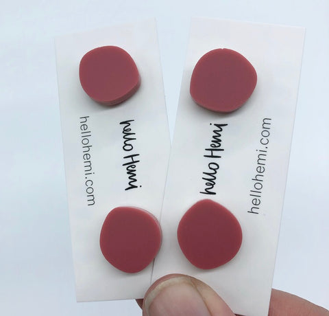 Organic Spots -  Matte Dusty Rose Pink