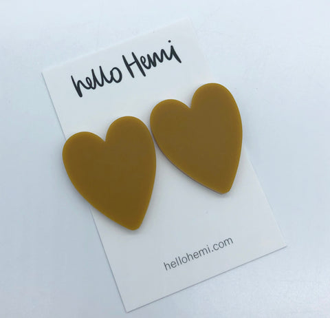 True LOVE Hearts  - Matte Mustard