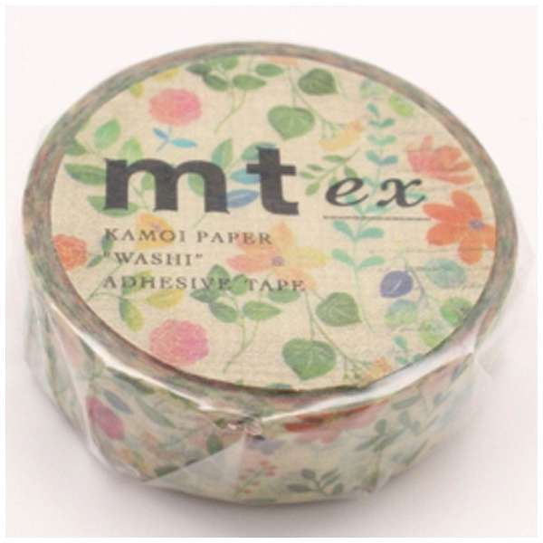 mt ex Watercolor Floral Pattern Japanese Washi Tape MTEX1P109 - Boutique SWEET BIRDIE