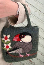 Java Sparrow Wool Felted Bag - Boutique Sweet Birdie