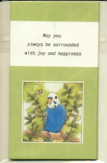 Sets of 3 Budgie Budgerigar Parakeet Mini Envelopes Emi-639