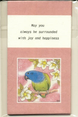 Sets of 3 Blue-Headed Parrot Mini Envelopes Emi-657 - Boutique SWEET BIRDIE
