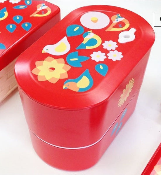 KOTORITACHI  Two Tier Lunch Box  for Bird Lover Finch