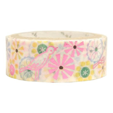 Bird Glitter Japanese Washi Tape Shinzi Katoh Design - Boutique SWEET BIRDIE