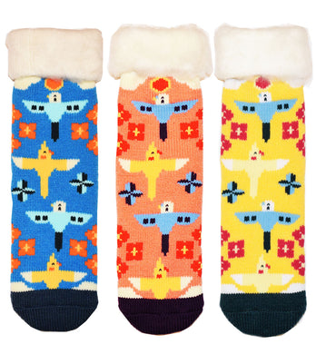 Flying Budgie & Cockatiel Room Socks