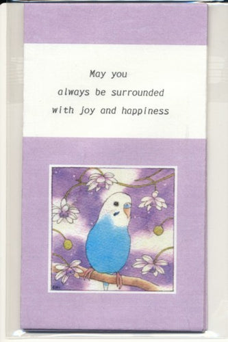 Sets of 3 Budgie Budgerigar Parakeet Mini Envelopes Emi-869