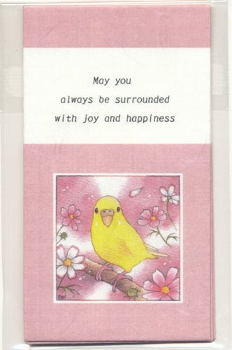Sets of 3 Budgie Budgerigar Parakeet Mini Envelopes Emi-874