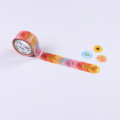 Gerbera Stickers Japanese Washi Roll Stickers - Boutique SWEET BIRDIE