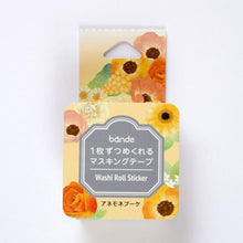 Anemone Bouquet  Stickers Japanese Washi Roll Stickers - Boutique SWEET BIRDIE