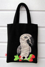 African Gray parrot Needle Felted A5 Tote - Boutique SWEET BIRDIE