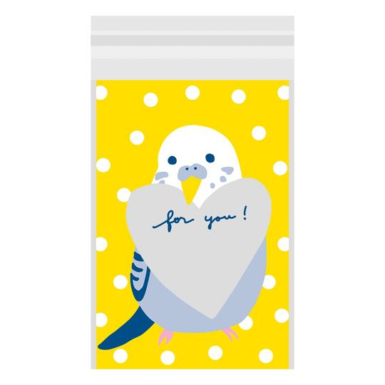 Sets of 10 Budgie Budgerigar Parakeet Gift Bag Plastic Bag - Boutique SWEET BIRDIE