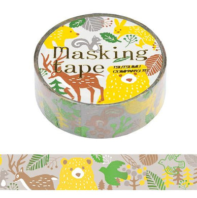 Forest Animal Glitter Washi Tape Masking Tape - Boutique SWEET BIRDIE