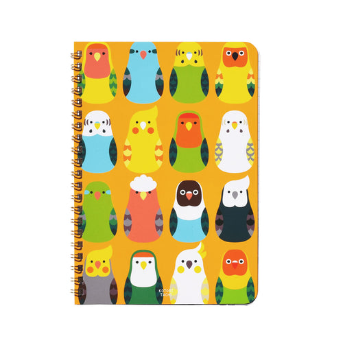 A5 Notebook Lovebird Pacific Parrotlet Budgie Budgerigar Parakeet Galah Cockatiel Java Sparrow Zebra Finch Gouldian Finch Tree Sparrow Owl, etc. 120 Pages