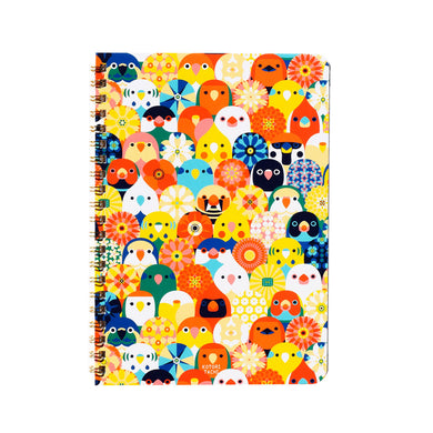 A5 Notebook Lovebird Pacific Parrotlet Budgie Budgerigar Parakeet Cockatiel Java Sparrow Zebra Finch Gouldian Finch Tree Sparrow, etc. 120 Pages - Boutique SWEET BIRDIE