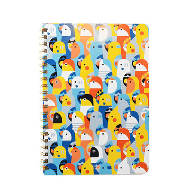 A5 Notebook Budgie Budgerigar Parakeet Cockatiel Lovebird Pacific Parrotlet Tree Sparrow Java Sparrow Gouldian Finch Zebra Finch, etc.120 Pages - Boutique SWEET BIRDIE