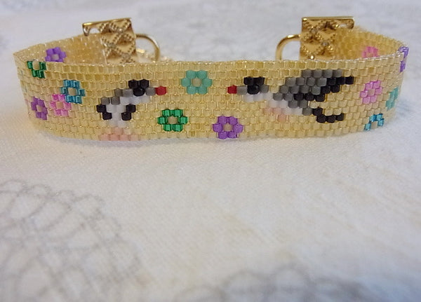 """AVAILABLE Upon Request"" Java Sparrow & Flower Bracelet"