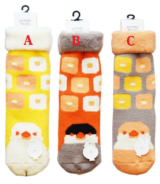 Java Sparrow Room Socks