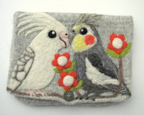 """AVAILABLE upon request""  Cockatiel Clutch Bag Purse"