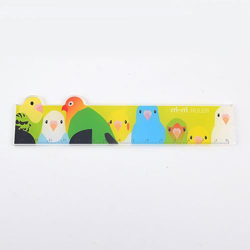 Budgie Budgerigar Parakeet Lovebird Cockatiel Pacific Parrotlet Diecut Centimeters Ruler 15cm - Boutique SWEET BIRDIE