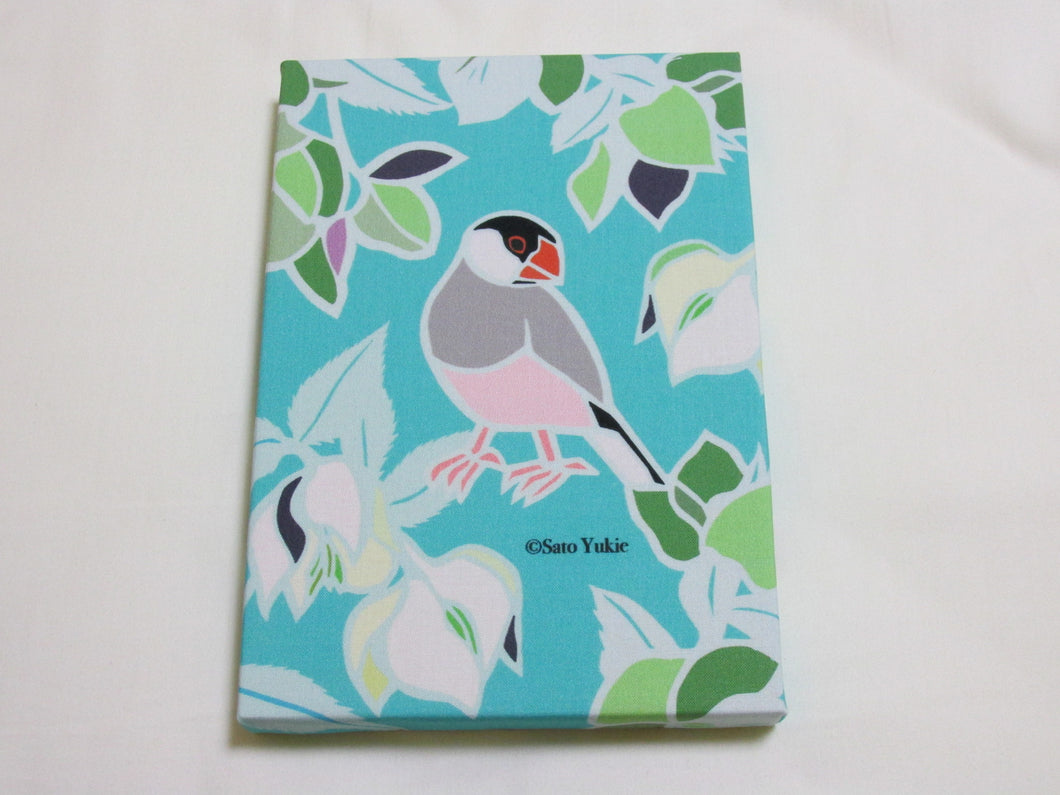 Fabric Art Panel Java Sparrow with Christmas Rose - Boutique SWEET BIRDIE